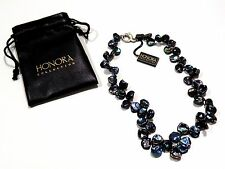 """Honora Collection Iridescent Keshi Petal Pearl Necklace 18"""" Sterling Clasp"""
