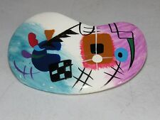 Vimtage Abstract Painting Barrette Studio Pottery Porcelain Indian Native