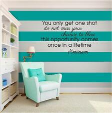 EMINEM MUSIC Vinyl Wall Art quote Home Family Decor Decal Word & Phrase BLACK