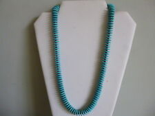 Turquoise Heishi Bead And Silver Native American Style Necklace