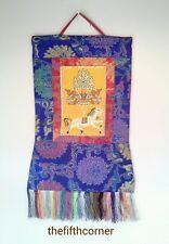 Tibetan Buddhist Thangka Mandala Silk Art Deco Thanka Handmade Nepal FairTrade