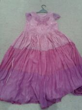 MONSOON GIRLS SILK Party Dress  9-10   YEARS.