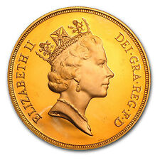 Great Britain 5 Pounds Gold Coin - Random Year - Proof or Uncirculated -SKU#8866