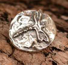 Artisan Dragonfly Button in Sterling Silver J90