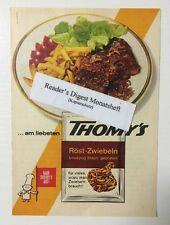 Werbeanzeige/advertisement A5: Thomy's Röst-Zwiebeln 1965 (17061647)