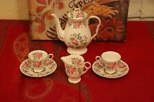 6 piece Royal Stafford, Rochester - 1 coffee pot, 2 cup and saucers, 1 cream jug