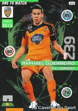 213 GUERREIRO PORTUGAL FC.LORIENT ONE TO WATCH CARD ADRENALYN 2016 PANINI
