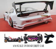 MAZDA RX7  Custom 1/10 Scale Remote Control Onroad  Drift Car WHITE