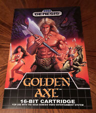 "Golden Axe Sega Genesis box / case art retro video game 24"" poster print"