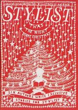 STYLIST MAGAZINE CHRISTMAS 2014 ILLUSTRATED BY ROB RYAN COVER COLLECTORS EDITION