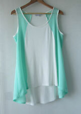 Annalee & Hope White Green Top - Buy Any 5 Items = Free Post
