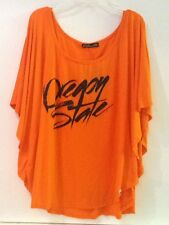 Oregon State Women's Small Orange Youth Monument Batwing Sleeve Top Shirt NWT