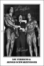 * Arnold Schwarzenegger and Lou Ferrigno * Large signed AUTOGRAPHED POSTER