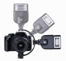 C-Shape Two Flash Bracket for Macro Photography DSLR Camera & Video Light