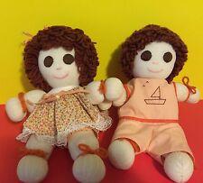 Boy & Girl Homemade Rag/Sock Dolls