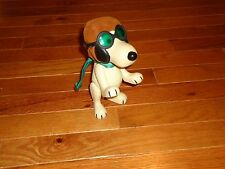 VTG 1966 SNOOPY AVIATOR PILOT FLYING ACE RED BARON FIGURE GOGGLES CAP SCARF