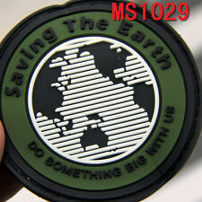 Original New Saving the Earth Design Rubber Velcro Military Patch Badge Patches