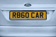 Ford Number Plate Surround Holder Richbrook Black Plastic With Silver Lip SINGLE