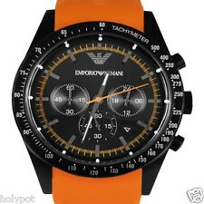 Emporio Armani AR5987 Sport Orange Chronograph Wrist Watch for Men