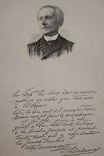 GRAVURE SUR BOIS DELAUNAY COMEDIEN ALBUM MARIANI 1894 AUTOGRAPHE