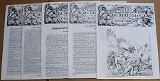 Lot of 5 The Burroughs Newsbeat #48-52 Fanzine Edgar Rice Tarzan 49 50 51 ERB