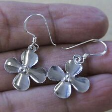 Pretty Thai Flower Erring 925 Sterling Silver