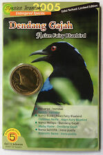 Endangered Bird Coin Card - No. 5 Dendang Gajah