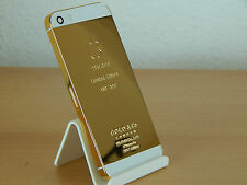Apple iPhone 5s Backcover/Gehäuse/Rahmen 24K Gold/Weiß Limited