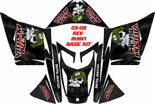 SKI DOO SNOWMOBILE WRAP REV,XP, XR,XS,XM MXZ  99-16 PLASMA OVAL BLACK MM STICKER