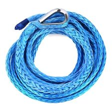 "Hot 3/16"" x 120' Synthetic Winch Line Cable Rope 5600LBs With Sheath Lake Blue"