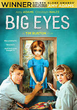 Big Eyes (DVD) Tim Burton Amy Adams Christoph Waltz Brand New Sealed