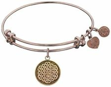 New flower of life rose tone Angelica Charm bracelet bangle Made USA stackable