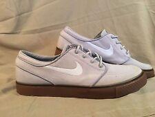 Stefan Janoski Nike Zoom Air Grey Canvas Skateboarding Shoes Men's Size 11