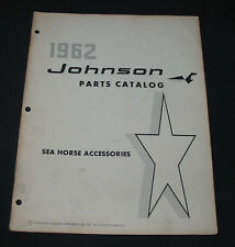 Parts Catalog Johnson Sea Horse ACCESSORIES Zubehör Katalog Ausgabe 1962!