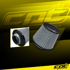 "3.5"" Stainless Steel Cold Air Short Ram Cone Intake Filter Black Mustang Flex"