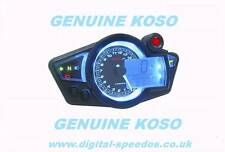 Digital Velocímetro Speedo Dash Kit de coche moto luces de RPM de calibre Koso RX1n BL