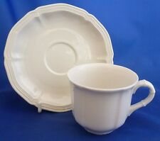 A VILLEROY & BOCH 'MANOIR' COFFEE CUP AND SAUCER