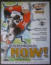 "2001 Revolution NHL Hockey Trading Cards 8x11"" Advertising Sheet - John LeClair"
