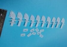 143k: 10x Control Horns (17x 19mm) Nylon , Parts for RC Foam Airplane