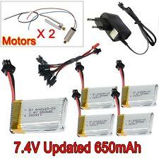 5pzas 7.4V 650mAh batería + cargador Set+4x Motor Para JJRC H8C H8D F182 F183 RC