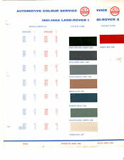 1958 1959 1960 1961 1962 1963 1964 1965-1969 LAND ROVER ORIGINAL PAINT CHIPS ICI