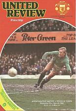 Football Programme - Manchester United v Ipswich Town - Div 1 - 21/3/1981