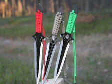 25,5 cm SET of 3PCS Outdoor Wildlife Hunting Dart Throwing Knife w/ Sheath  Gift
