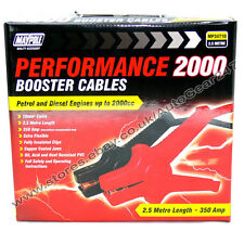 HeavyDuty 2.5M 350A 2000cc CSA 10mm² Car Battery Jump Start Leads Booster Cables