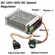 10-50V 40A PWM DC Motor Speed Control Controller CW CCW Reversible Pulse Driver
