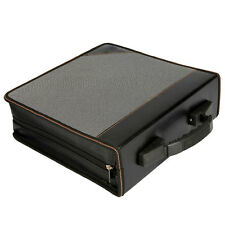 New 240 Disc CD VCD DVD Storage Organizer Holder Media DJ Case Black with Dots