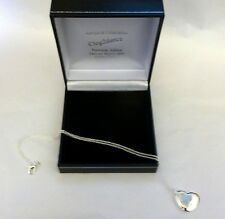 "PENANT SILVER PENDANT 18"" CHAIN HEART NECKLACE Hallmarked Silver 925  -SUPERB"
