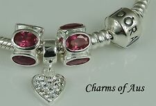GENUINE Pandora bracelet all sizes + 3 stunning 925 Sterling Silver charms.