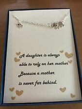 Mother and Daughter Elephant Necklace w/ love poem/Gift