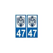 47 SUA Agen rugby autocollant plaque arrondis